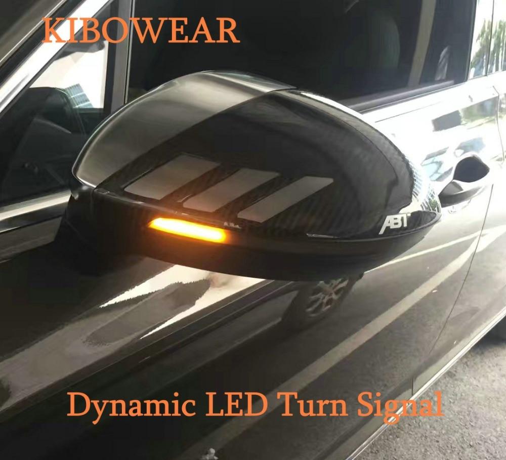 KIBOWEAR Per VW Passat B8 Variante Arteon Dinamica HA CONDOTTO Accendere LA Luce di Segnale Specchio Laterale Indicatore Sequenziale Lampeggiante per Volkswagen