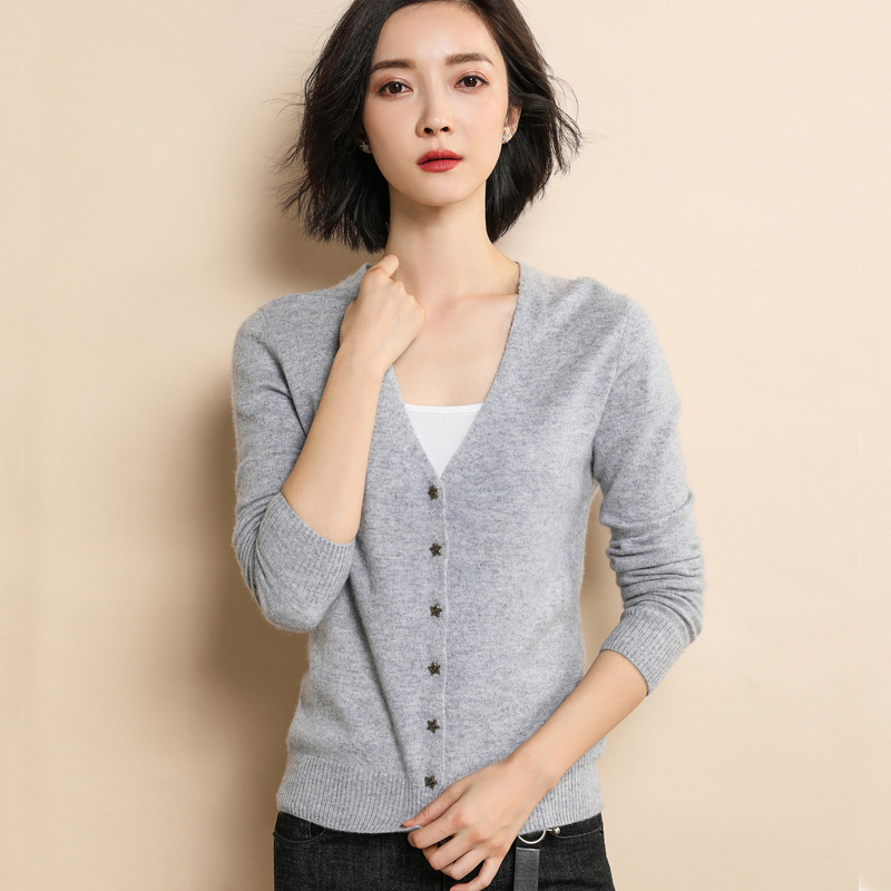 2018 Summer Cardigan Women Casual Thin Long Sleeve Tops Short High Quality Spring Ladies V-Neck Black Knitted Sweaters Cardigans