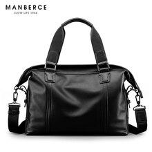 MANBERCE Brand Handbag Men Shoulder Bags Genuine Leather Briefcases Tote Bag Business Men's Messenger Bag Casual Travel Bag