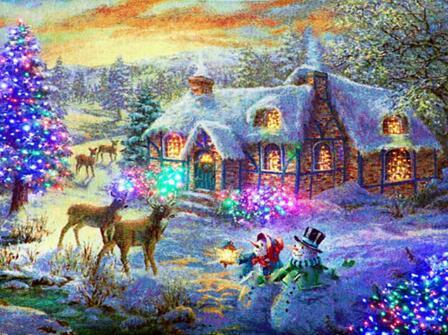 5D DIY Diamond Painting Landscape Winter Scenery