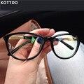 Kottdo 2016 nueva marca mujeres gato gafas marco gafas de equipo anteojos ópticos de lectura gafas para hombre mujer gafas de grau