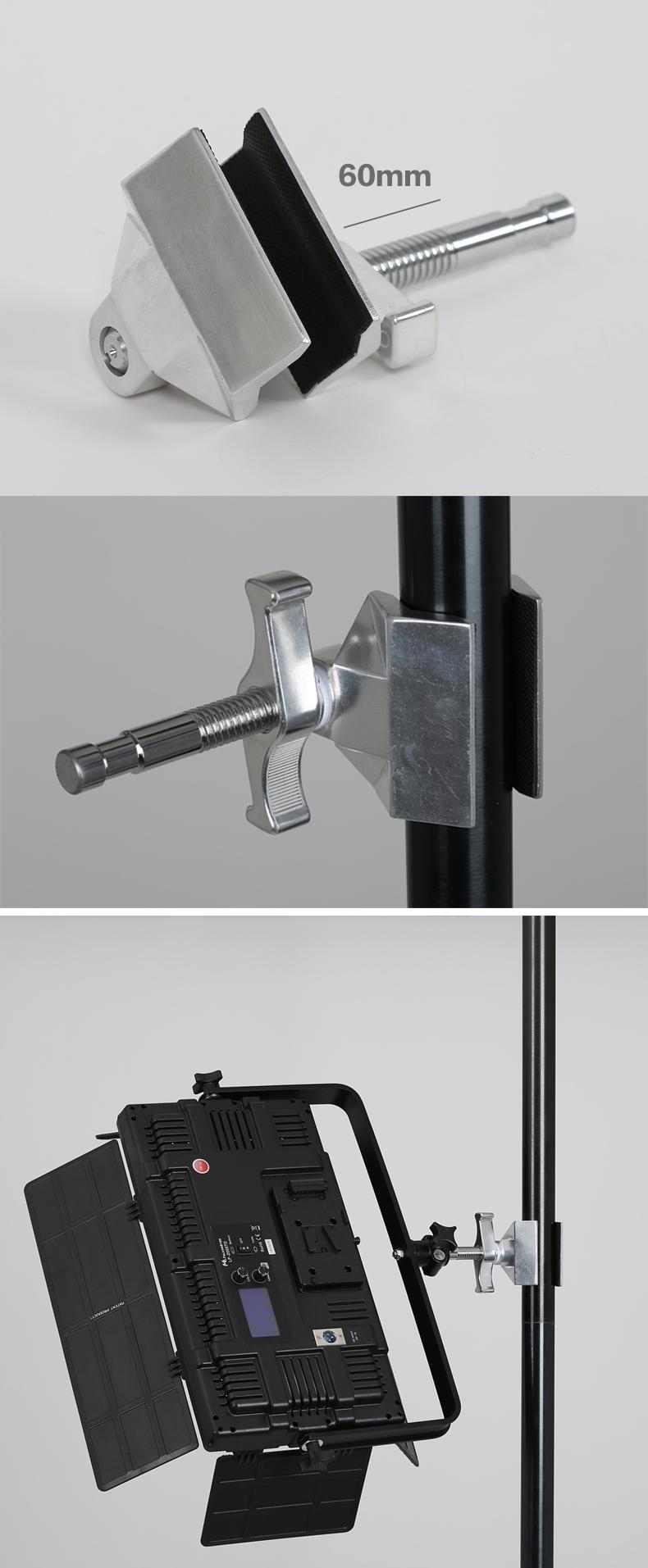 2018 Hot sale 15-60mm JCL-01S Heavy Metal C Type Clamp U Clip Bracket for Photo Studio Light Stand Camera Flash Accessories 9