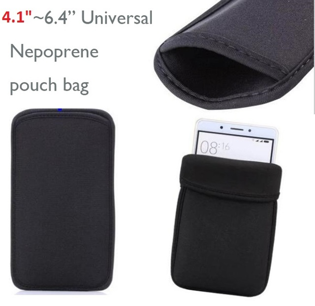 """4.1""""~6.4"""" inch Universal Neoprene Pouch Bag Sleeve Case For iphone XR XS Max X 7 8 Plus For Samsung S10 PLUS S10e S8 S9 Android"""