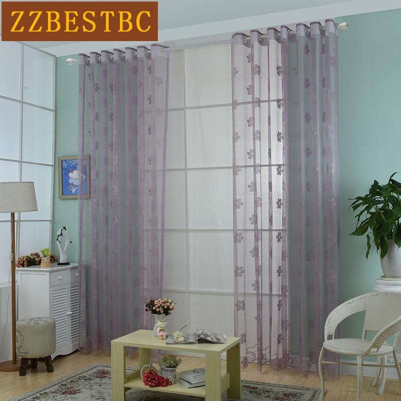 Moderní jednoduché vysoce kvalitní krajkové zástěny do obývacího pokoje v kuchyni lze vybrat pro tylové závěsy do ložnice