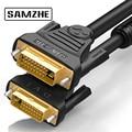 SAMZHE 1080 P DVI кабель 24 + 1 модель 18 Pin один двойной 1 м/1,5 м/2 м/3 м/5 м/8 м/10 м DVI кабель адаптер для проектора ноутбук ТВ - фото