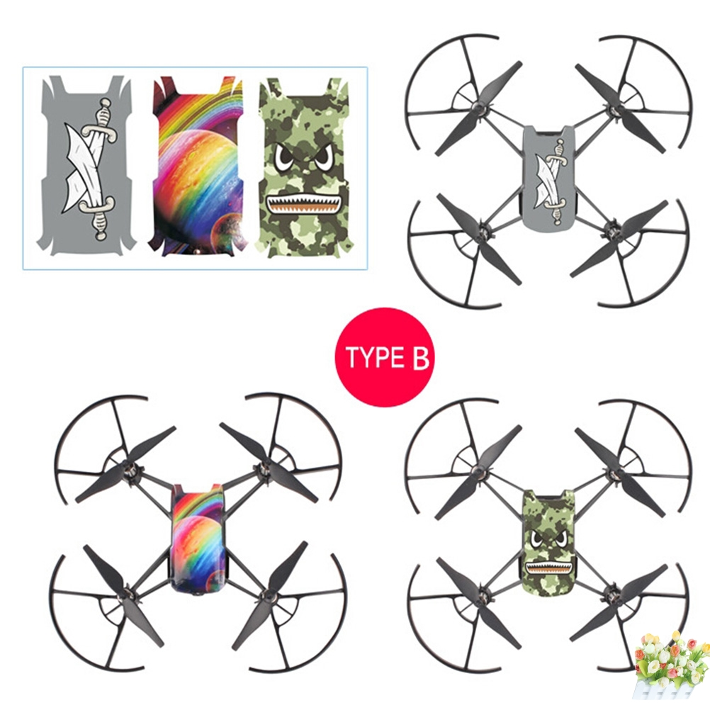 3pcs  Waterproof PVC Stickers Body Decals For DJI TELLO Drone