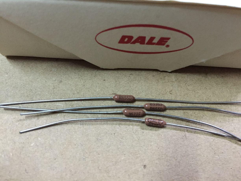 30PCS/lot DALE CMF55 All Series 1R-10M 1% HIFI Resistors Precision Metal Film Resistors Free Shipping