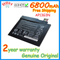 """Novo original bateria para acer iconia w3-810 w3-810p ap13g3n tablet 8 """"series 3.7 v 6800 mah 25wh"""