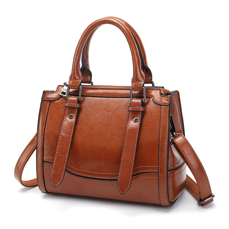 Luxury Handbags Women Bags Designer Genuine Leather Shoulder Bag 2018 Top-Handle Bag Female Shopping Tote Sac Brand Purse  T49