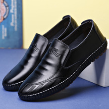 2019 famous brand high-end mens casual shoes breathable wear-resistant leather comfortable set foot soft sole male