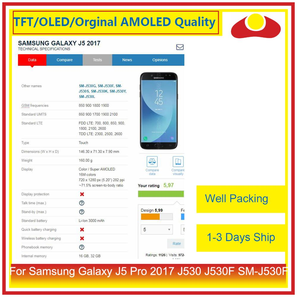 Image 3 - ORIGINAL For Samsung Galaxy J5 Pro 2017 J530 J530F SM J530F LCD Display With Touch Screen Digitizer Panel Pantalla Complete-in Mobile Phone LCD Screens from Cellphones & Telecommunications