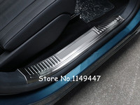 For Peugeot 5008 GT 2017 2018 Stainless Steel Exterior Car Styling Inner Accessories Car Door Sill Scuff Cover Trim 4pcs