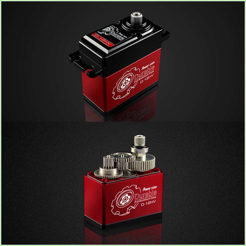 ФОТО 1 Pcs POWER HD D-12HV Coreless Motor Digital Servo Titanium & Alu Gear Torque 12KG speed 0.06 Sec,Compatible FUTABA JR SAVOX