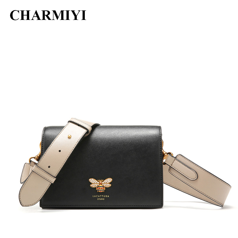 CHARMIYI Women Messenger Bags Designer Small Flap Handbag Women Split Leather Shoulder Bag Crossbody for Lady Fashion Purse alligator crocodile leather mini women crossbody bags small women bag sling lady messenger shoulder bag purse lady handbag