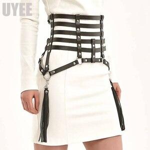 Image 1 - UYEE креативные кожаные подтяжки с кисточками, пояс для подвязки, сексуальный пояс для тела, бондаж, юбки, платье для выпускного, бдсм, бондаж для женщин LP 026