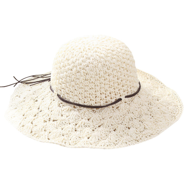 2017 Fashion Handwork Women Summer Straw Sun hat Boho Beach Fedora Hat  Panama Hat Casual Bowknot Cap Fishing Snapback Gorras 7fae2b2e661