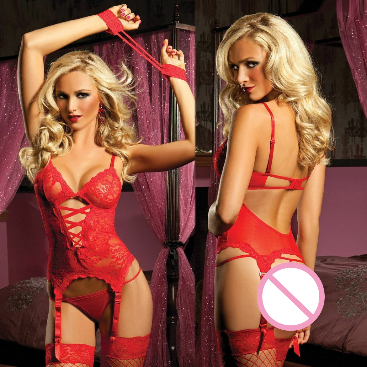 Summer Womens Sexy Lace Lingerie Babydoll G-String Thong See-through Underwear Nightwear Female Erotic Sex Costume