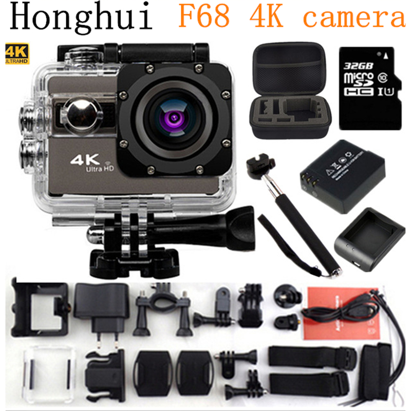 Action Camera 4K 24fps wifi 2 0 Screen 170 Angles Adjustable Extreme go pro style Sports