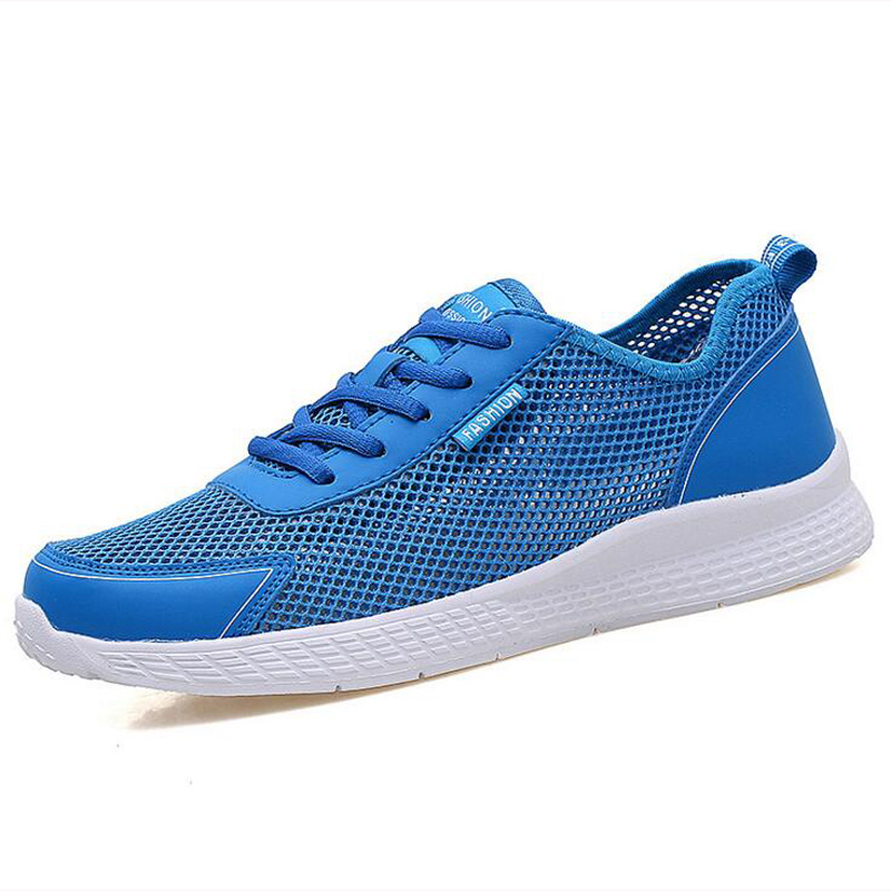 2018 summer men sneakers Breathable Mesh Casual shoes for men Light Flat sport shoes Chaussure Homme size 38 - 47 zjnnk summer men mesh shoes big size male casual shoes breathable slip on chaussure homme light soft men summer shoes big size