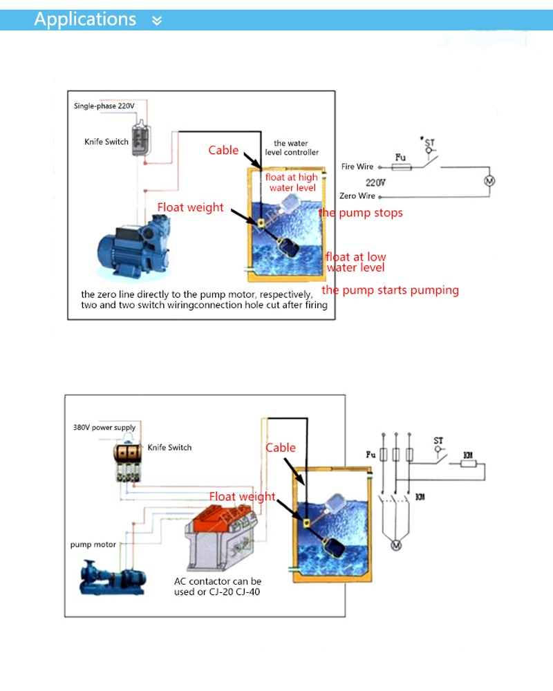 4m Controller Float Switch Liquid Switches Fluid Water Level Spdt Wiring Diagram 71