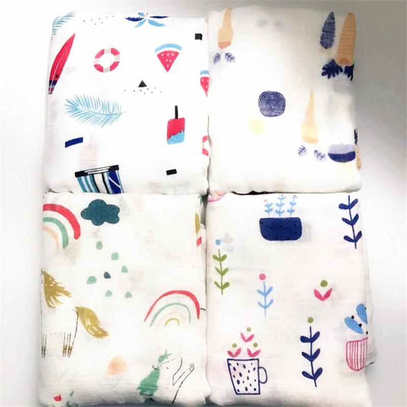 Muslin Newborn Swaddle Blanket Bath Towel Multi Designs Functions Baby Wrap