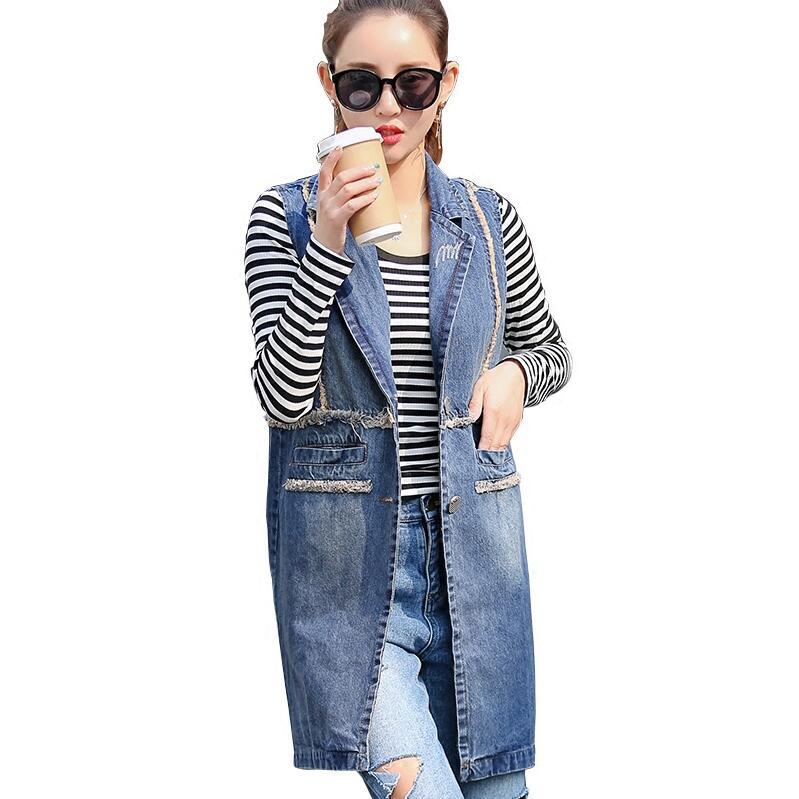 Fashion font b Women b font Denim Vest Slim Fit Sleeveless Spring autumn font b Jacket