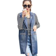 Fashion Women Denim Vest Slim Fit Sleeveless Spring autumn Jacket Outwear Abrigos Vest Femme Plus Size 3XL w307