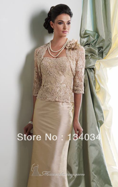 Hot Ing Sample Design Beige Lace Top Dress With Jacket Mother Of The Bride Special Occasions In Dresses From Weddings