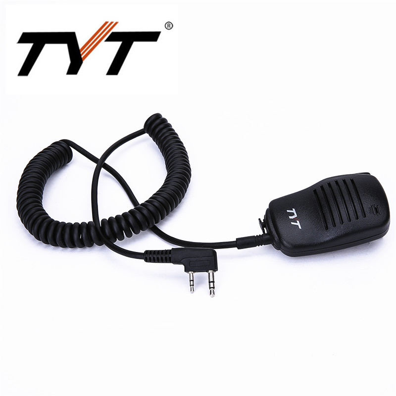 100% Original TYT Speaker Microphone For DM-UVF10 TH-UV9 TH-UV8000D MD-380 MD-UV380 MD-390 MD-UV390 Walkie Talkie With K Plug