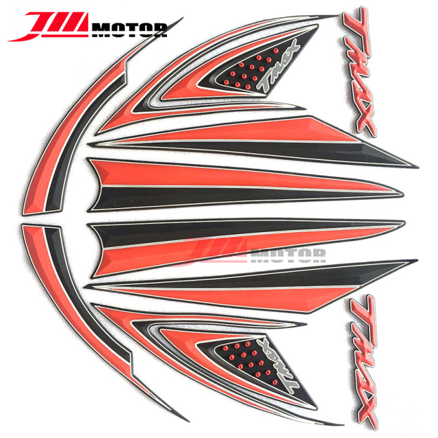 New arrival motorcycle 3d emblem whole car 3m decals stickers with 3d logo for yamaha tmax530