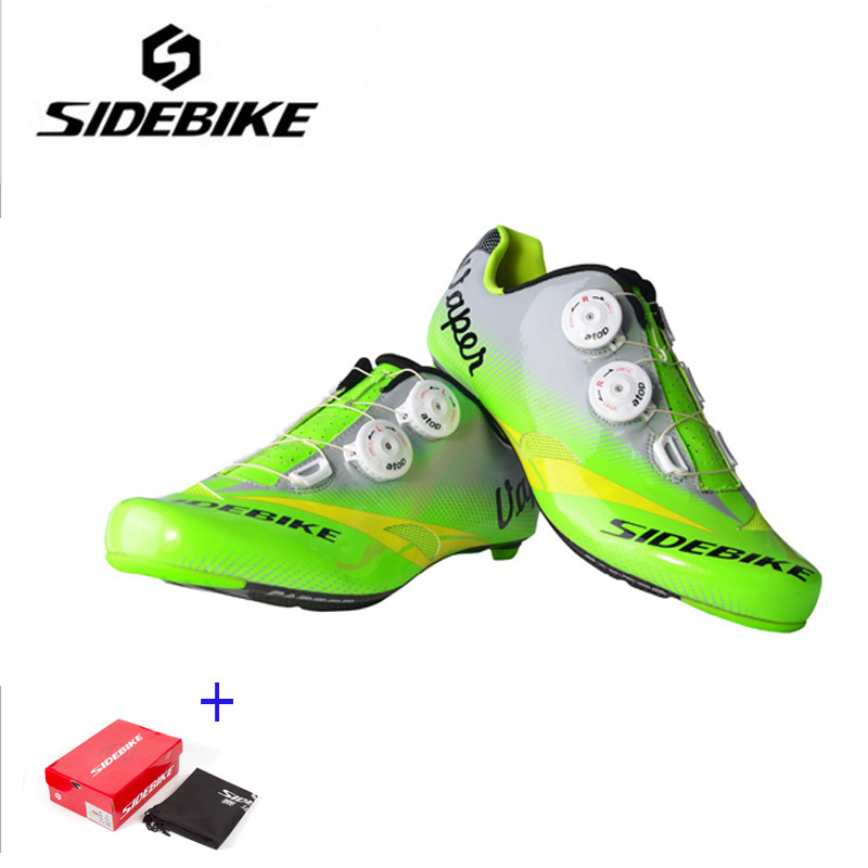 SIDEBIKE Carbon Riding Cycling Shoes Breathable Bicycle Bike Road Shoes Self-Locking cycle shoes Zapatillas Sapatilha Ciclismo sidebike mens road cycling shoes breathable road bicycle bike shoes black green 4 color self locking zapatillas ciclismo 2016