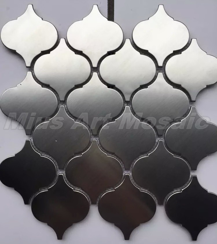 Arabesque Lantern Beacon Stainless Steel Mosaic Silver Steel Metal Tile Kitchen Tile A6A089 In