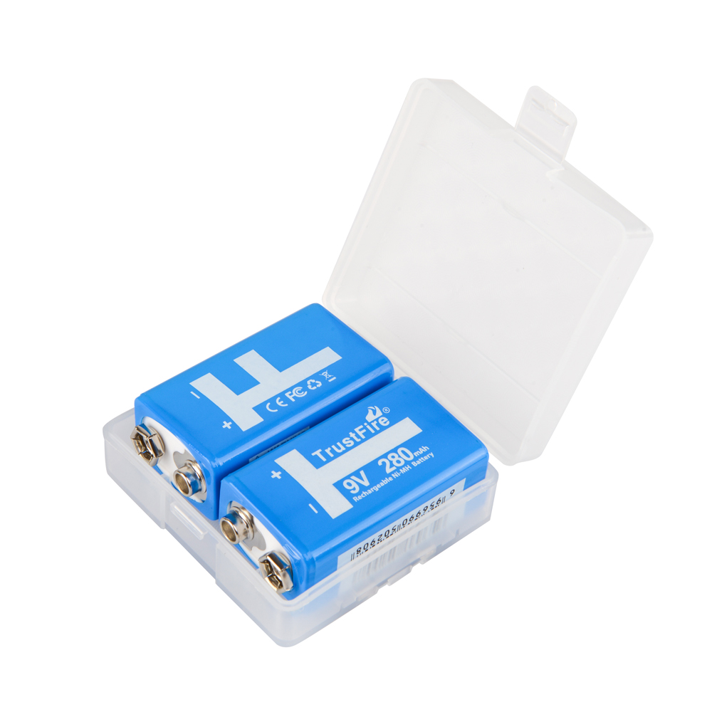 10pcs/lot TrustFire Rechargeable Battery Ni-MH 9V 280mAh PPP3 NiMH Batteries For Walkie Talkie Remote Control Toys Smoke Detector