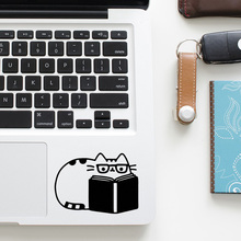 Reading Kitten Cat Trackpad Quote Laptop Decal for Apple Macbook Sticker Pro Air Retina 11 12 13 15 inch Mac Vinyl Touchpad Skin