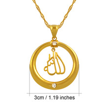 Allah Pendant & Necklaces Chain for Women Gold Color Jewelry Islam Fashion Arabia Muslim gift Middle East