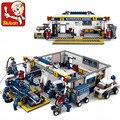 Sluban Building Blocks F1 Racing Combination Model Assembly Compatible LegoINGlys Blocks Plastic DIY Bricks Toys For Children