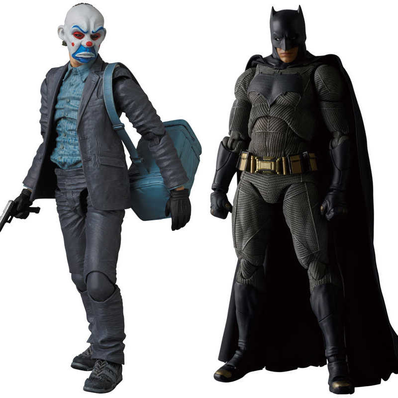 MAFEX NO 015 & 017 Batman The Dark Night The Joker PVC Aksi Gambar Koleksi Model Toy 15 cm