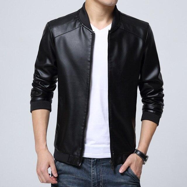 Т дешевые оптовая 2016 весна осень новый тонкий срез мужчины мода повседневная прохладный тонкий тенденция ПУ кожаные куртки