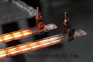 gold layer reflector short wave IR emitters halogen twin tube heater quartz heating elements infrared lamps