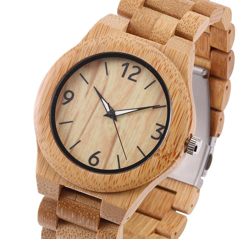 Подробнее о Natural All Bamboo Wood Watches Top Brand Luxury Quartz Movement Men Wooden Wristwatches for Gift cindiry 2017 top luxury brand men s wood watch men relogio quartz movement natural brown wooden watches for men wristwatch t20