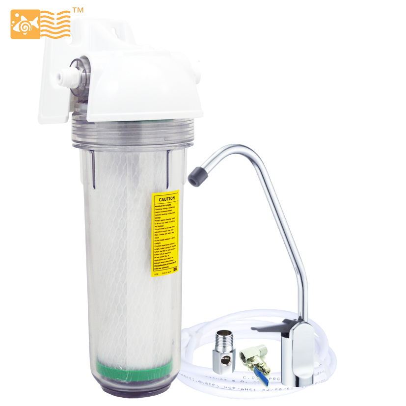 Household Single Stage Undersink Water Filter System 0.5micron Activated Carbon Lead Remove