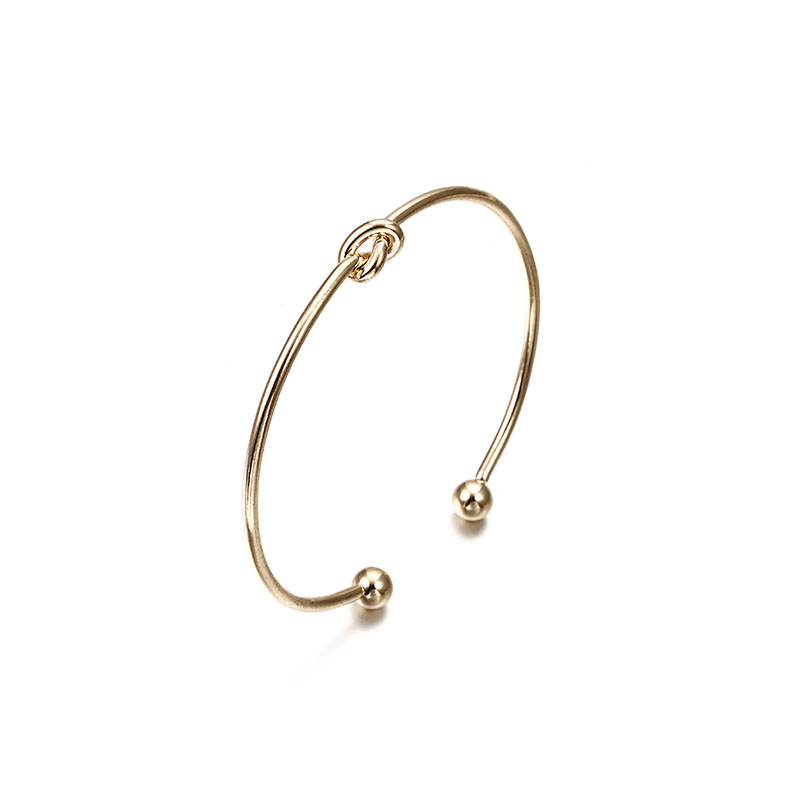 Vintage Cuff Bracelet Bangles for Women Brief Gold Color Open Arrow Knotted Charms Bracelet Jewelry valentines Gift ns54 4