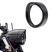 For 7'' inch harley led headlamp Visor Style Trim Ring for FLD FLST Touring Bikes Black/Chrome