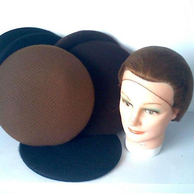 3a4c2fac02 Cabelo invisível redes descartável 20 inch rede de cabelo cor marrom cabelo  net com borda elástica