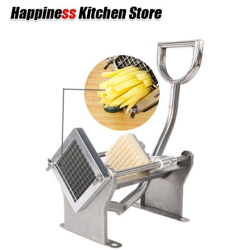 Manual Cut Fries Machine Potato Chips Machine 3 Blades Vegetable Fruit Cutter