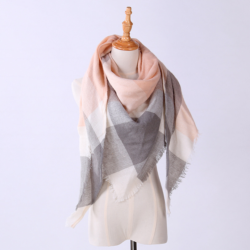 20 Style Classic Winter Triangle Scarf for Women Designer Shawl Cashmere Plaid Scarves Blanket 140*140*200cm 1 pcs