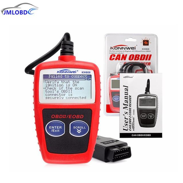 Flash Promo KONNWEI KW806 Universal Car OBDII Can Scanner Error Code Reader Scan Tool OBD 2 BUS OBD2 Diagnosis Scaner PK AD310 ELM327 V1.5