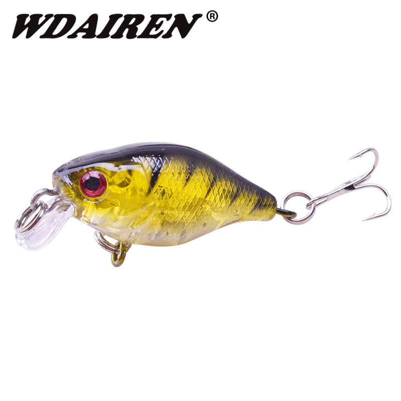 1Pcs 4.5cm 4.3g Fishing Lure Japan Mini Wobblers Artificial Hard bait Crankbait Topwater Swim Carp lures Fishing tackle WD-382