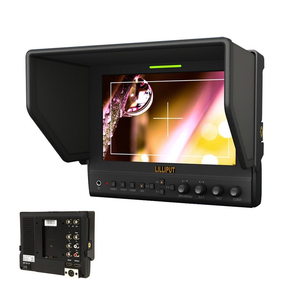 Lilliput 7 663/S2 3G SDI monitor 1280*800 IPS Panel LED monitor HD field monitor HDMI SDI monitor & Aluminum case new aputure vs 5 7 inch 1920 1200 hd sdi hdmi pro camera field monitor with rgb waveform vectorscope histogram zebra false color