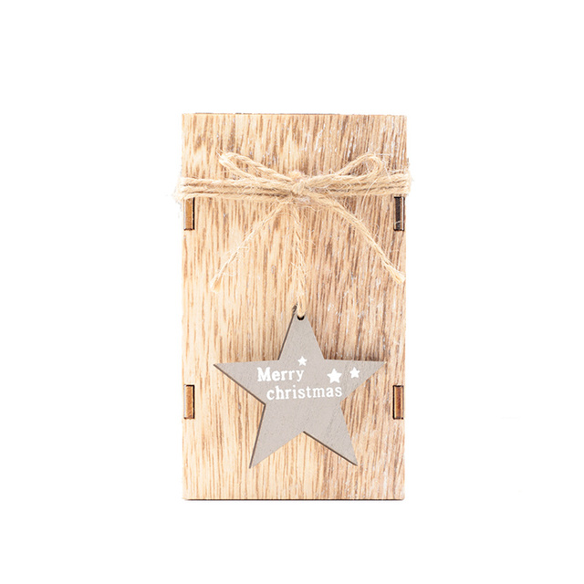 Christmas Candle Holder Wood Candlestick With Hanging Star Party Wedding Decor Gift Tree Decorative Lanterns 50XX149